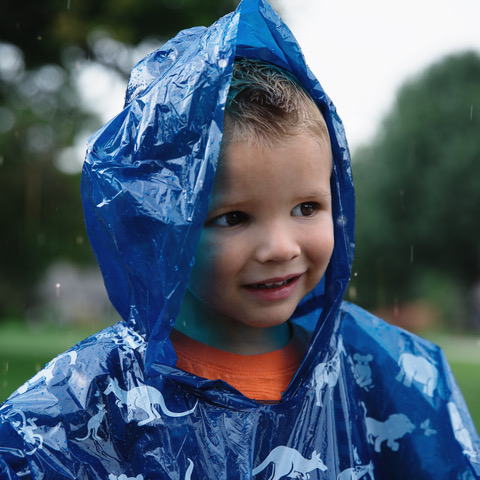 Disposable Rain Ponchos for Kids 4 Pack